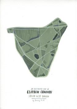 Clapham Common map