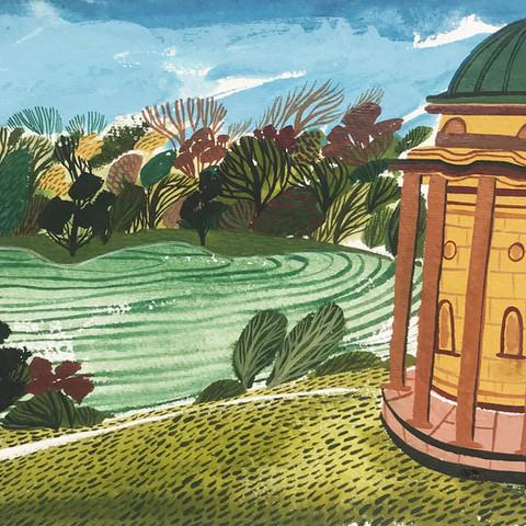 'The Temple of Apollo, Stourhead'