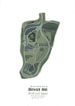 Dulwich Park map