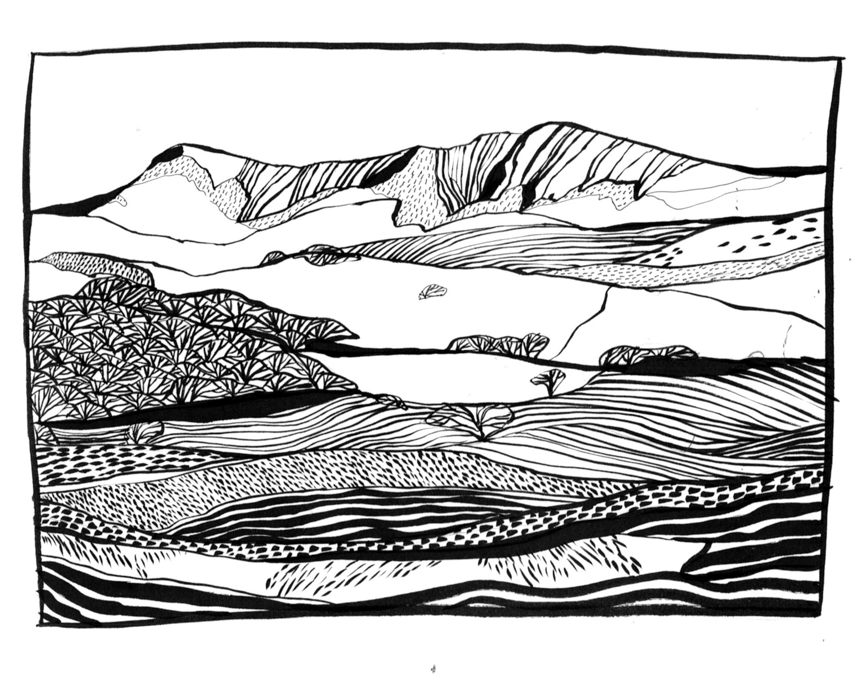 Cader Idris Preliminary Sketch