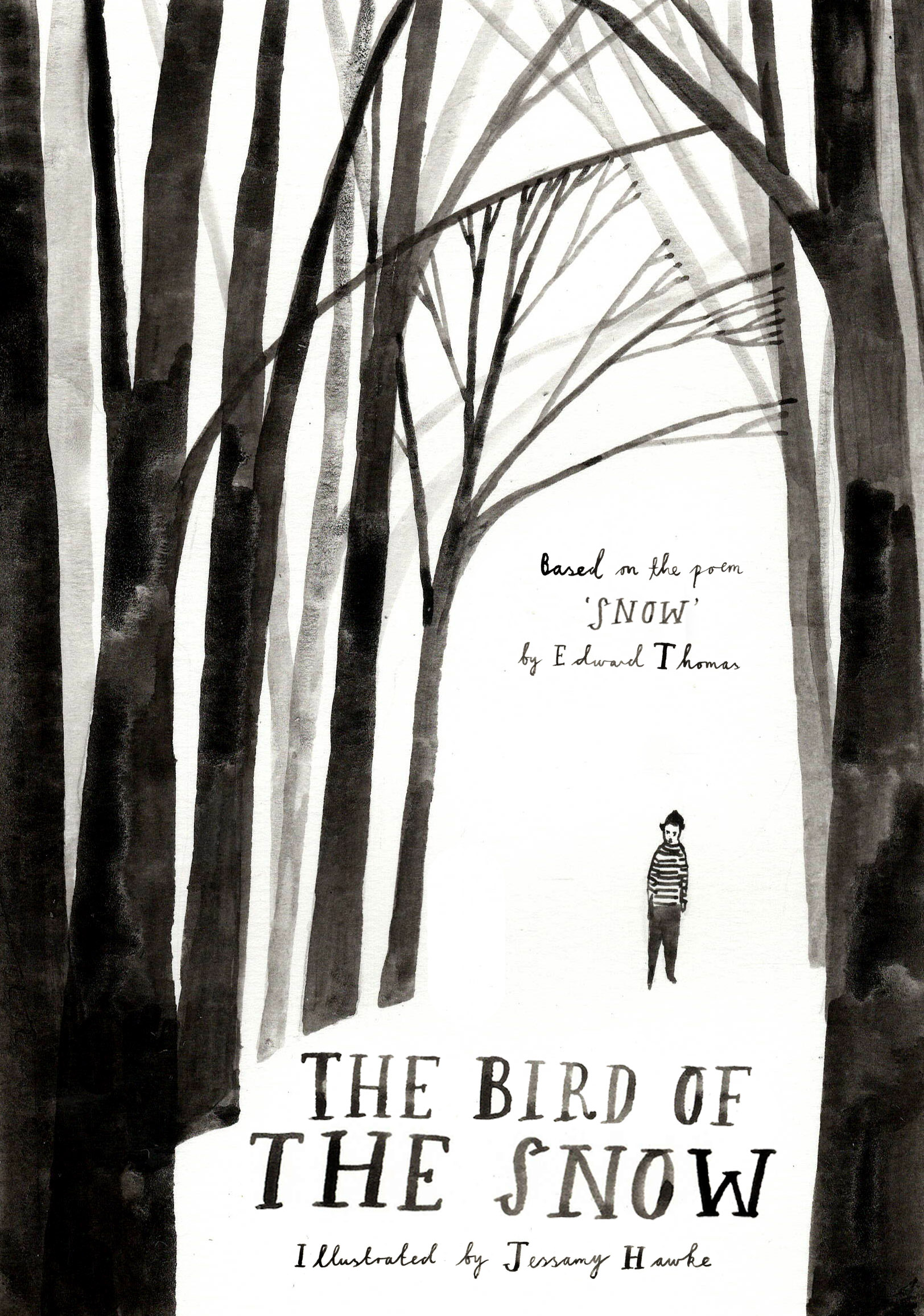Bird of the snow cover