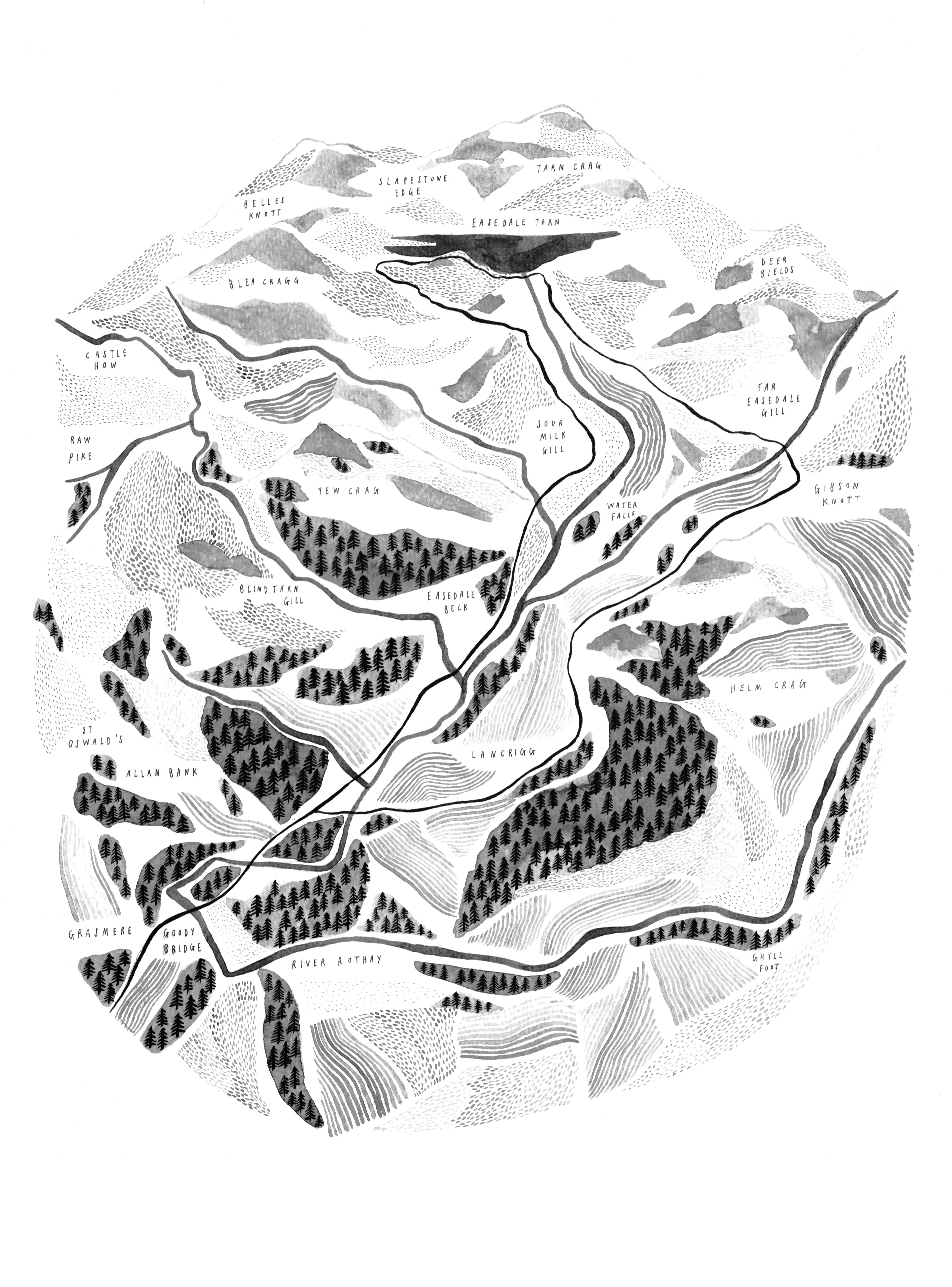 Easedale Map