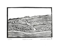 Purbeck View Linocut