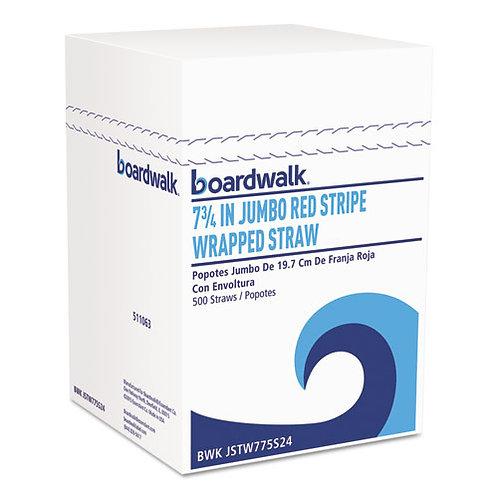 "Wrapped Jumbo Straws, 7 3/4"""