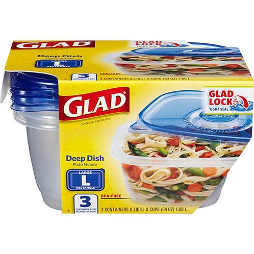 Food Storage Containers, Deep Dish