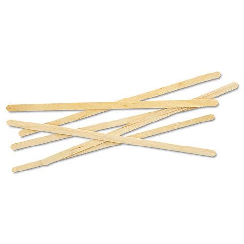 """Renewable Wooden Stir Sticks - 7"""""""