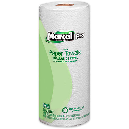 100% Recycled Paper Towel, White