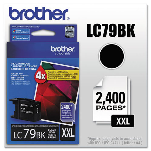 Brother LC79BK Innobella Ink, Black