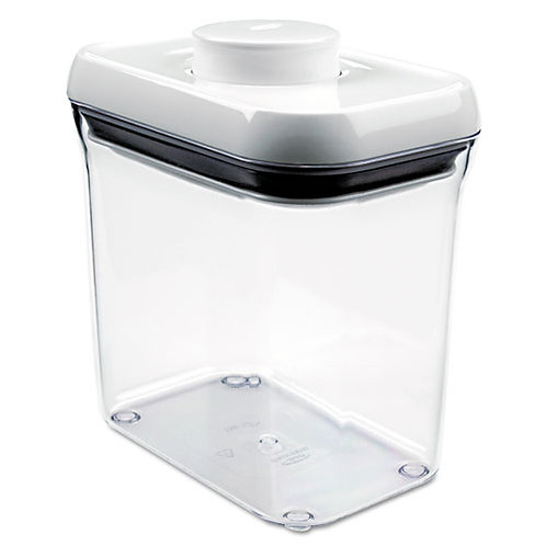 Good Grips Pop Container, White/Clear