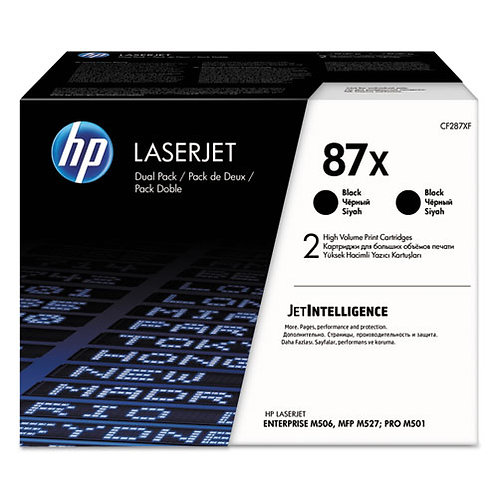 HP 87X, (CF287X-D) Toner Cartridges