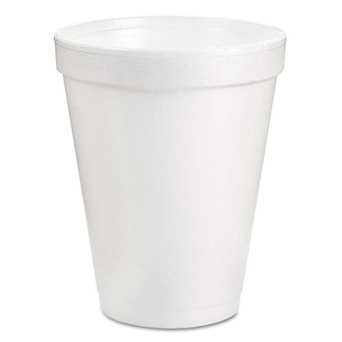 Dart Drink Foam Cups, 8oz, White