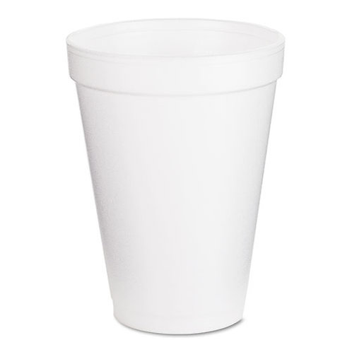 Dart Drink Foam Cups, 12oz, White