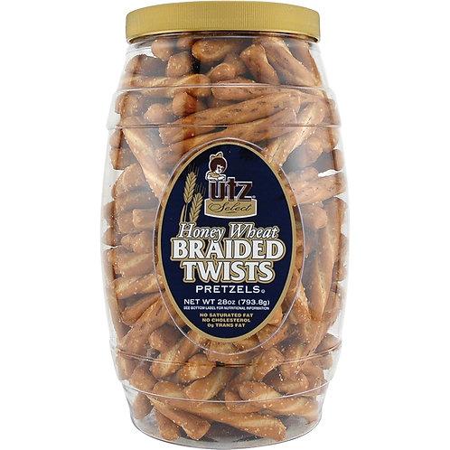 Snack Tubs, Honey Wheat Braided Twists