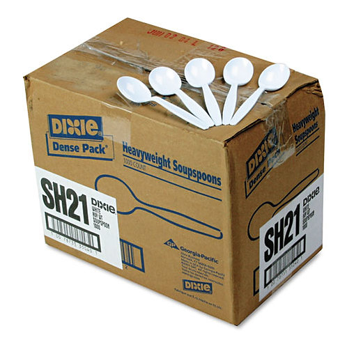 Heavyweight Soup Spoons, White