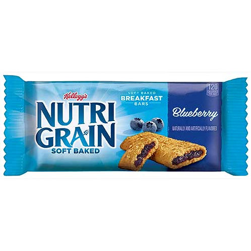 Cereal Bars, Blueberry, 8/BX