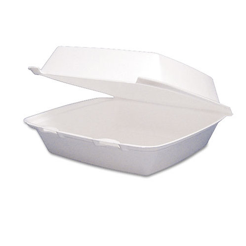 Foam Container, Hinged Lid, 1-Comp