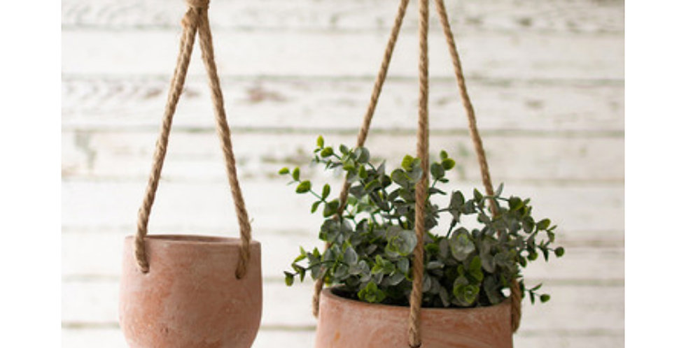 Hanging Clay Planters (2 sizes)