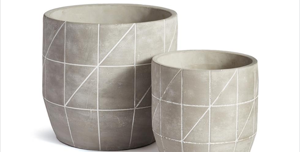 Etched Concrete Cachepot (2 sizes)