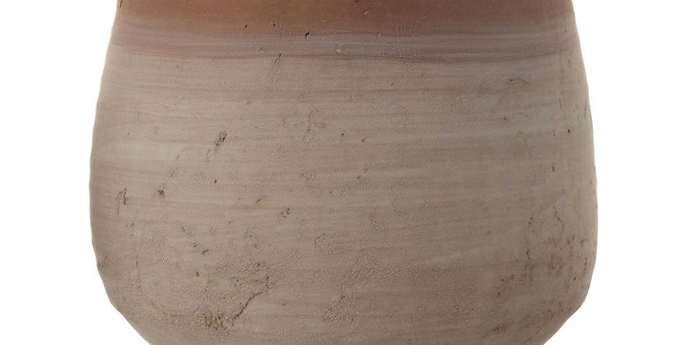 Whitewashed Terracotta Planter