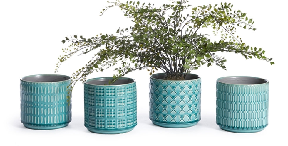 Teal Loretto Pot (4 styles)