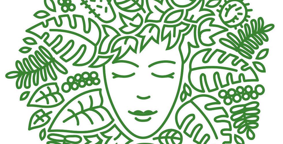 Green Lady Gardens Sticker