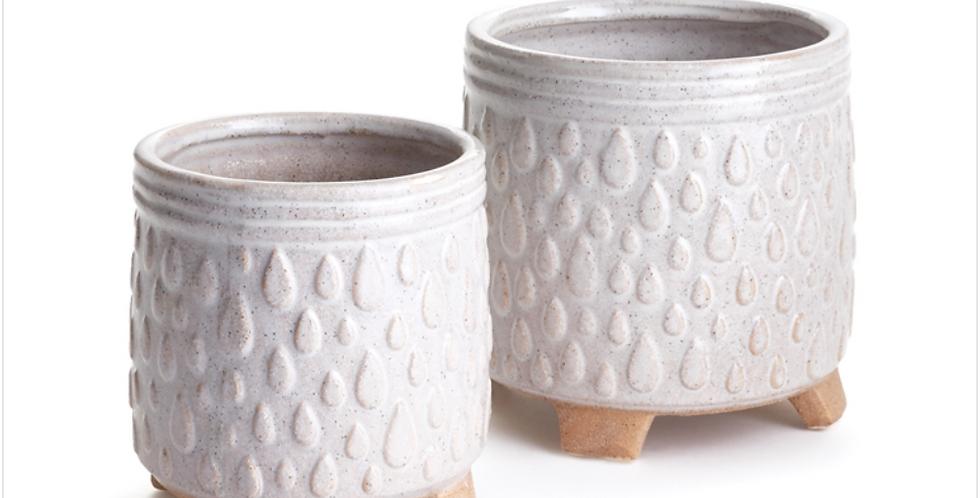 White Porter Pot (2 sizes)