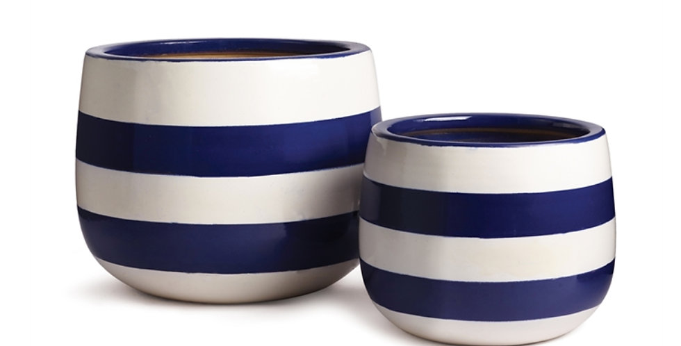 Bayside Hand-Painted Pot (2 sizes)