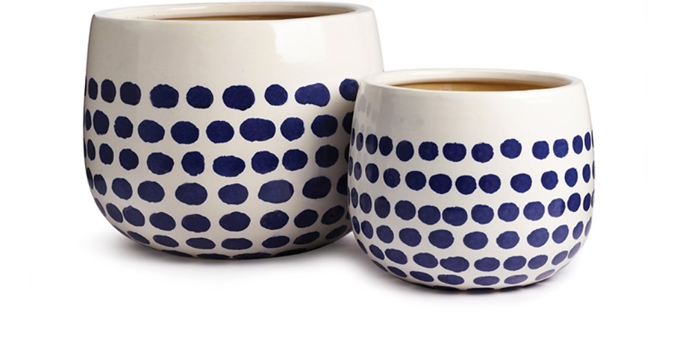 Polka Dot Hand-Painted Pot (2 sizes)