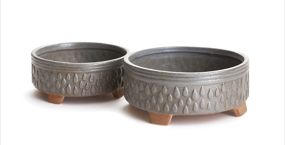 Low Grey Porter Pot (2 sizes)