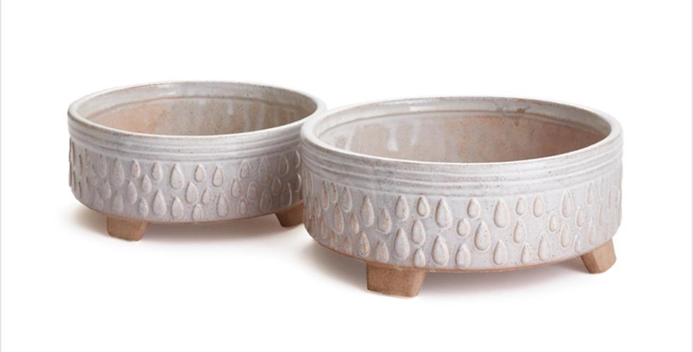 Low White Porter Pot (2 sizes)