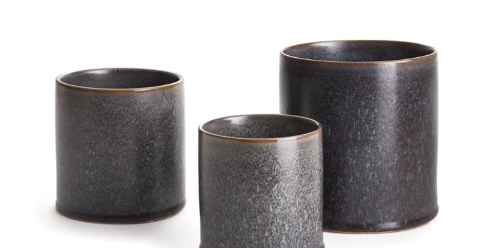 Dark Grey Aura Pot (3 sizes)
