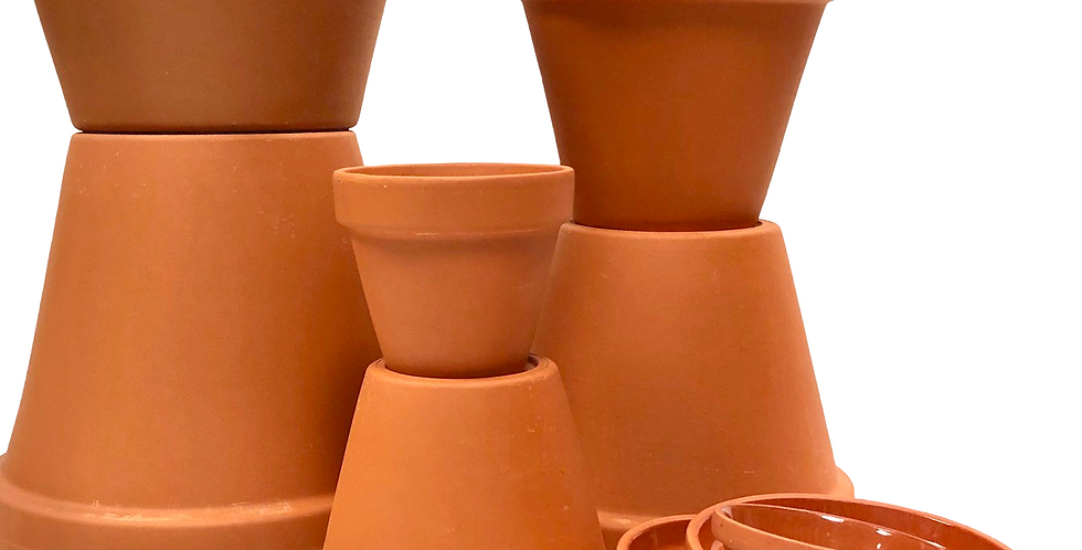 Terracotta Pots & Saucers