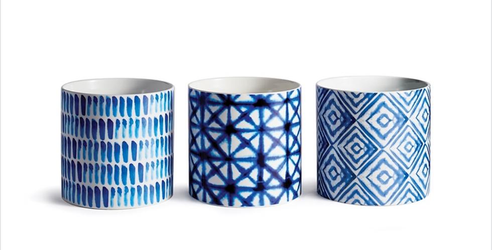 Blue Mood Pots (2 sizes, 3 styles)