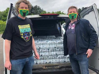 UNITED UTILITIES DONATES 1800 BOTTLES OF WATER