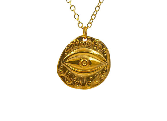 Ancient Evil Eye in Gold