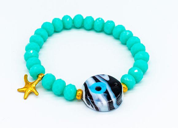 Turquoise Stones, Evil Eye, Bracelet