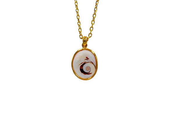 Naxos Eye, Necklace, in gold plated silver