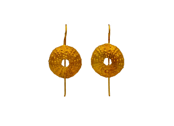 Urchin Gold Plated Earrings