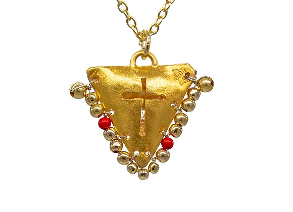 "Cross ""Fylachto"" Pendant in Gold Plated Silver"
