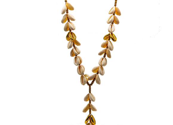 Gold Sea Shell, Necklace, Extra Large Size