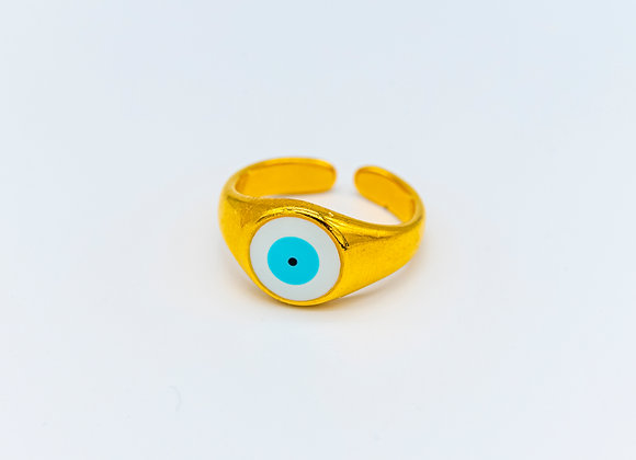Tereza's Gold Eye, Ring, Gold Plated