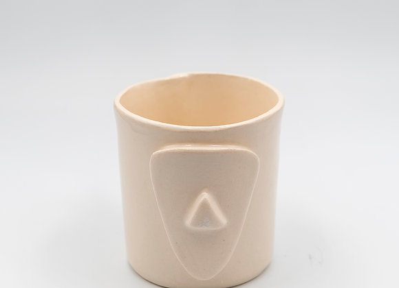 Handcrafted, Cycladian Style, Ceramic Short Mug in Ivory