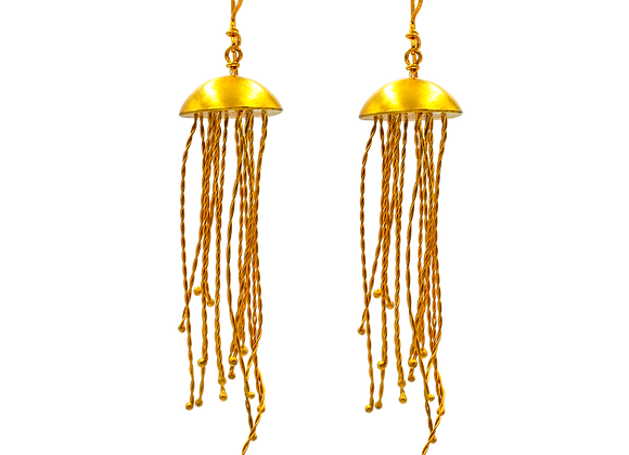 Jellyfish Gold Plated Earrings