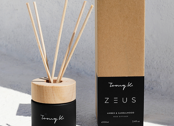 """Zeus"" Amber & Firewood Scented diffuser"