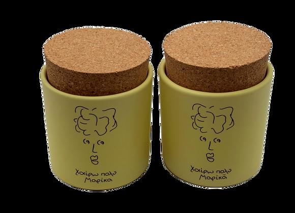Set of 2 Meet Marika Sugar/Coffee Jar