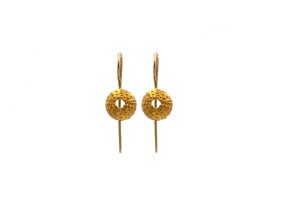 Urchin, Small Sized, Earrings in Gold Plated Silver