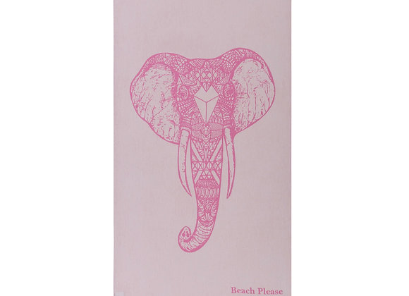 Pink Elephant, Premium Beach Towel
