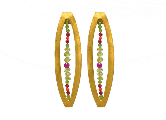 Cassandra, Earrings, in Gold Plated Silver