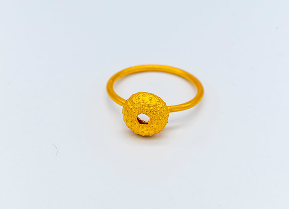 Urchin, Small Sized, Ring in Gold Plated Silver