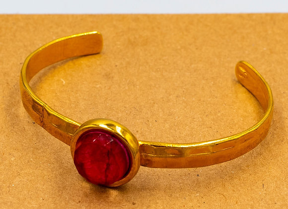 Passion Red Gold Bangle Bracelet